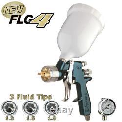 NEW DeVILBISS FinishLine 4 Waterborne HVLP SPRAY PAINT GUN VALUE KIT Plastic Cup