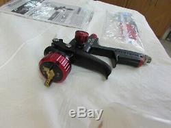 NEW! Spectrum Black Widow HVLP Professional Spray Gun Primer/Base Coat 20 Oz