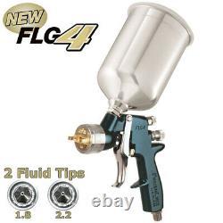 New DeVILBISS FinishLine 4 Primer HVLP SPRAY GUN-1.8 2.2 Tips Auto Paint Priming