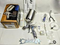 New Open-box Binks SV100 Pro Series HVLP Spray Gun Kit 1.4mm, 2.0mm. MADE IN USA