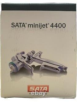 New SATA minijet 4400 B RP 0.8 with RPS Disposable Cups HVLP Mini Detail Spray Gun