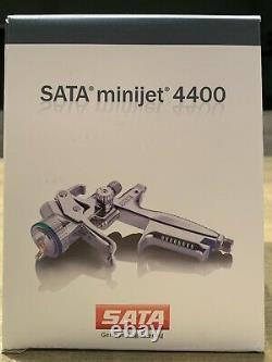 New SATA minijet 4400 B RP 1.2 with RPS Disposable Cups HVLP Mini Detail Spray Gun