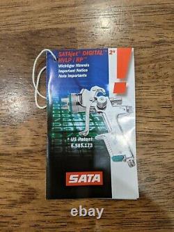 New Sata satajet 3000 HVLP Digital spray gun with 1.3 Nozzle