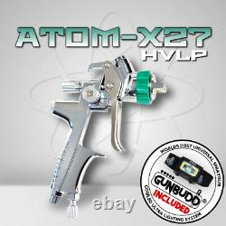 ORIGINAL ATOM X27 Professional Spray Gun HVLP Solvent/Waterborne withFREE GUNBUDD