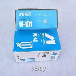 PAINT SPRAY GUN ANEST IWATA W-101 Gravity Feed SprayGun Cup HVLP 1.0/1.3/1.5/1.8
