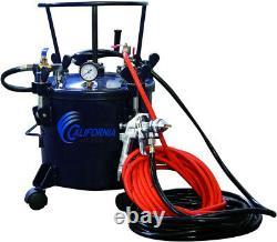 Pressure Pot Paint Sprayer Air Tools 5 Gal. With HVLP Spray Gun and Hose Kit