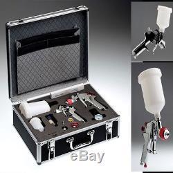 Professionale in alluminio mit 2 HVLP Pistola di verniciatura + 4
