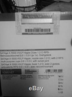 SATA 1095167 Hippie Edition 1.2 O 5500 HVLP spray Gun withrps
