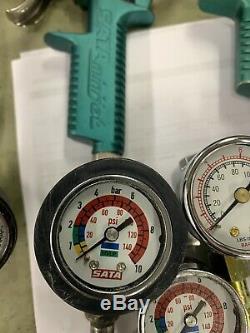 SATA 27771 HVLP Air Micrometer WithGauge 0-145 PSI Spray Gun Regulator