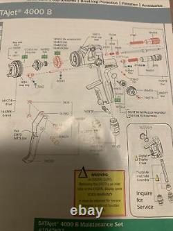 SATA JETB 4000 HVLP/RP REPAIR/REBUILD KIT Plus Air Micrometer Seal & Inlet Seal