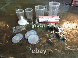 SATA JET 4000B HVLP DIGITAL PAINT GUN with unopened spare nozzle & hoppers