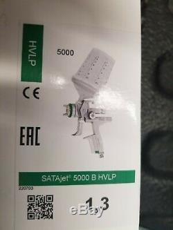 SATA JET 5000 B HVLP Standard Paint Spray Gun, 1.3 with RPS Cups 209882 NEW