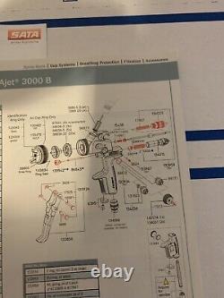 SATA Jet 3000b Rp/hvlp Repair/rebuild Kit Plus Air Dist. Ring & Air Cap Seal