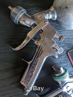 SATA Jet 4000 B HVLP Spay Gun DeVilbiss Plus J3 Gravity Feed Spray Gun Bundle