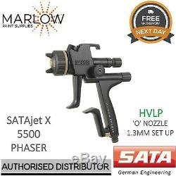 SATA jet X 5500 HVLP PHASER 1.3mm'O' NOZZLE Gravity Spray Gun Basecoat 1096115