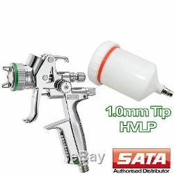 SATA minijet 4400 Spray Gun HVLP 1.0 mm Gravity Air Feed Professional Sprayer
