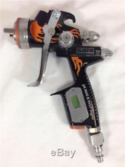 Sata Jet 3000 Fire Edition- Digital B HVLP 1,3 Paint Spray Gun Orange Flames
