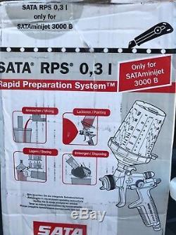 Sata Minijet 3000B ONLY! HVLP RP Spray Paint Gun RPS Cups 0,3liter 8oz 5cups