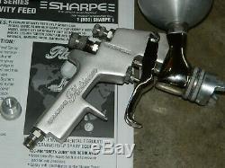 Sharpe Platinum 2017 Gravity Feed Hvlp Spray Paint Gun Kit 1.7 Tip With 2 Cups