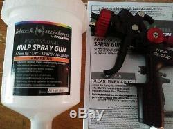 Spectrum Black Widow Hvlp Professional Spray Gun Ideal Primer/base Coat NEW