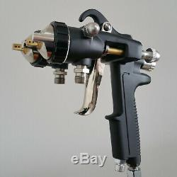 Spray Gun SAT1189 Nano Chrome Double Nozzle Pneumatic Tool Paint Set Painting