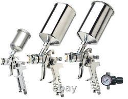 Titan 19220 4 Piece HVLP Triple Setup Spray Primer Topcoat Detail Gun Kit