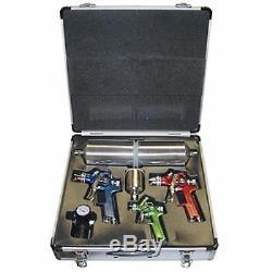 Titan 4 Pc HVLP Spray Gun Kit with Aluminum Case19221