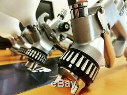 Two pcs SG250 HVLP Gravity Spray Gun 1.4 and 1.8 Paint WTP Tools Professional
