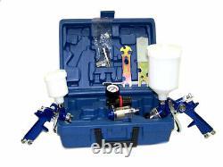 2 Hvlp Air Spray Paint Gun 1.4mm Air Touch Up Gun 1.0mm Peinture Outil Kit
