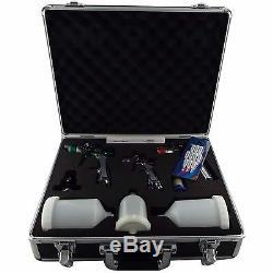 3 X Pistolet Kit Hvlp 0.8mm Lvlp 1.3mm 1.7mm + Jauge Et Filtre Dans Carry Case