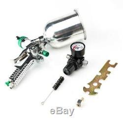 600cc Hvlp Pistolet Automatique De Voiture Peinture Alimentation Par Gravité Gauge Flake Primaire Buse 600l