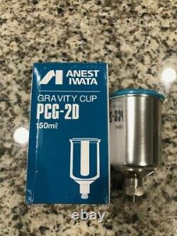 Anest Iwata Lph-80-082g Hvlp Mini Gravity Spray Gun 150ml Tasse Inoxydable Cerakote