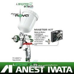 Anest Iwata Ls-400 Entech Ets Hvlp Maître Kit Par Manomètre + Pininfarina