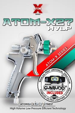 Atom X27 Pistolet De Pulvérisation Professionnelle Hvlp Solvant / Aquatique Avec Gunbudd Gratuit