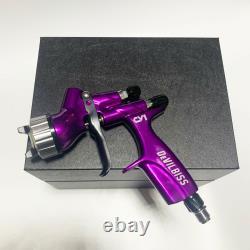 Devilbiss Cv1 Purple Buse Professionnelle Pistolet Voitures Peinture 600ml Hvlp