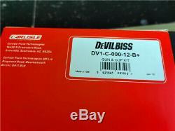 Devilbiss Dv1-b Basecoat Hvlp À Alimentation Par Gravité Pistolet Coupe 1.3mm 600ml Nouveau 2020