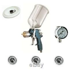 Devilbiss Finishline 4 Hvlp Spray Paint Gun Avec Régulateur D'air Et 3 Conseils Flg670