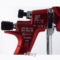 Devilbiss Gti Prolite Rouge Alien Hv30 Hvlp Base De Base Pistolet Pulvérisateur 1.3 / 1.4mm