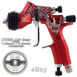 Devilbiss Gti Prolite Rouge Pistolet Pulvérisateur À Couche De Base Alien Hv30 Hvlp 1.2 / 1.3mm