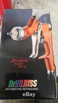 Devilbiss Hd-2 Hvlp Pistolet Pulvérisateur À Alimentation Par Gravité Pour Toutes Les Peintures Auto, Finition, Retouche