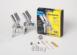 Devilbiss Spray Paint Gun Kit 802343 Hvlp 2 Full Size Guns Nouveau