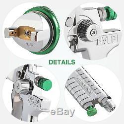 Kit De Pistolet De Pulvérisation Par Gravité Hvlp De 2,5 MM Avec Paillettes De Métal Pour Apprêt Automatique