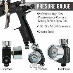 Master Pro 22 Hvlp Touch Up Pistolet, Pointe 1.0mm, Régulateur De Pression D'air, Détail