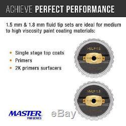 Master Pro Ultime Hvlp Pistolet 1.3, 1.4, 1.5mm Tip Fluide Règle Du Régulateur D'air