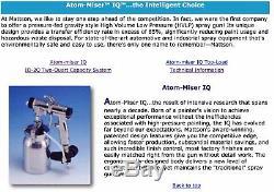 Mattson Atom-miser Iq 88 Automobile Hvlp Professionnel Système De Pulvérisation De Peinture 2 Canons
