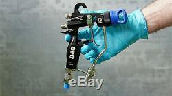 Nouveau Graco 24c855 Hvlp G40 Air Spray Gun Assistée Avec Embout M419