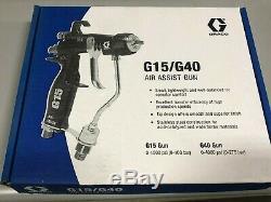 Nouveau Pistolet Pulvérisateur À Assistance Pneumatique Graco 24c855 Hvlp G40 Sans Pointe