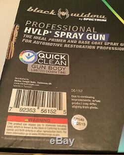 Nouveau Spectrum Black Widow Professional Hvlp Pistolet Primaire / Base Coat 56152