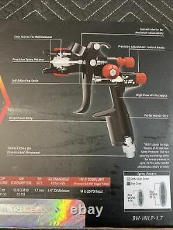 Nouveau! Spectrum Black Widow Professional Hvlp Spray Gun Bw-hvlp-1.7 (1525)