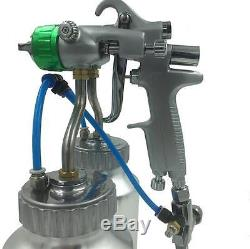Pistolet À Air Pulvérisé Airbrush Hvlp Spray Chrome Airbrush Double Buse